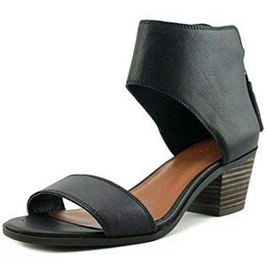 Lucky Brand Barbina Leather Heeled Sandals